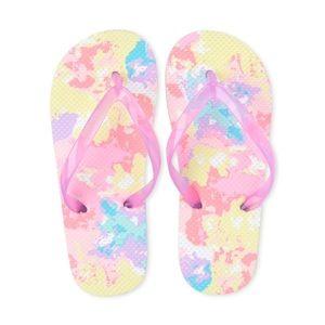 NWT Children's Place Pink Tie Dye Flip Flops 3-4